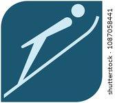 winter sport icons   ski... | Shutterstock . vector #1087058441