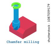 chamfer milling metalwork icon. ... | Shutterstock . vector #1087059179