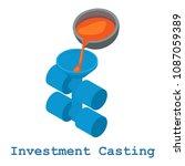 investment casting metalwork... | Shutterstock . vector #1087059389