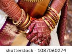 pakistani and indian bridal... | Shutterstock . vector #1087060274