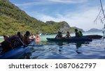 samui  th   april 13  kayaking... | Shutterstock . vector #1087062797