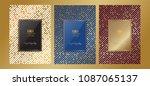 luxury premium menu design... | Shutterstock .eps vector #1087065137