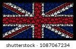 british flag pattern made of...
