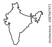 map of india icon black color... | Shutterstock .eps vector #1087067471