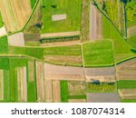 aerial view of agricultural... | Shutterstock . vector #1087074314
