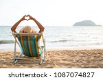 summer beach vacation concept ... | Shutterstock . vector #1087074827