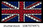 uk state flag collage designed... | Shutterstock .eps vector #1087074971