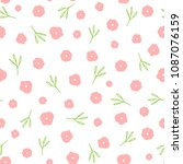 repeated cute flowers and...   Shutterstock .eps vector #1087076159