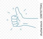 thumb up or best ok finger... | Shutterstock .eps vector #1087077041