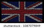 united kingdom flag concept... | Shutterstock .eps vector #1087079849
