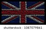 great britain flag composition... | Shutterstock .eps vector #1087079861