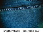 texture of denim and stitch for ... | Shutterstock . vector #1087081169