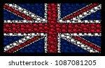 united kingdom state flag... | Shutterstock .eps vector #1087081205