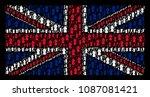 uk flag pattern organized of... | Shutterstock .eps vector #1087081421