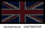 united kingdom state flag...   Shutterstock .eps vector #1087082939