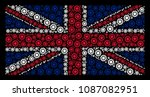 uk state flag pattern organized ... | Shutterstock .eps vector #1087082951