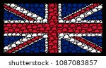 english state flag composition...