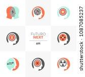 modern flat icons set of... | Shutterstock .eps vector #1087085237