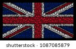 british state flag collage... | Shutterstock .eps vector #1087085879
