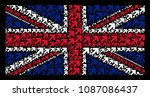 great britain state flag... | Shutterstock .eps vector #1087086437