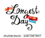 the longest day. june 21. hand... | Shutterstock .eps vector #1087087847