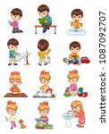 male and female collection ... | Shutterstock .eps vector #1087092707