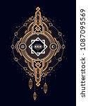 beautiful print in esoteric... | Shutterstock .eps vector #1087095569