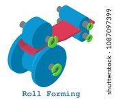 roll forming metalwork icon.... | Shutterstock . vector #1087097399