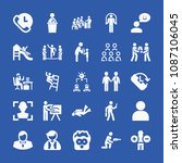 people related set of 25 icons... | Shutterstock .eps vector #1087106045