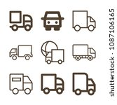 lorry related set of 9 icons...   Shutterstock .eps vector #1087106165