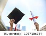 graduation student learner is... | Shutterstock . vector #1087106354