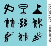 filled party icon set such as... | Shutterstock .eps vector #1087107029