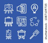 tools related set of 9 icons... | Shutterstock .eps vector #1087109735
