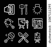 tools related set of 9 icons... | Shutterstock .eps vector #1087111295