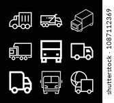 lorry related set of 9 icons...   Shutterstock .eps vector #1087112369