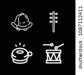 music related set of 4 icons... | Shutterstock .eps vector #1087112411