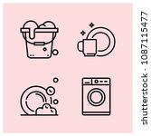 outline cleaning icon set such... | Shutterstock .eps vector #1087115477