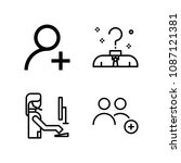 outline people icon set such as ...   Shutterstock .eps vector #1087121381