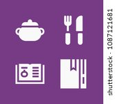 filled cooking icon set such as ...   Shutterstock .eps vector #1087121681