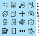 outline interface icon set such ... | Shutterstock .eps vector #1087121795