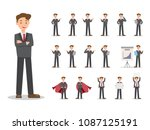 businessman characters set. can ... | Shutterstock .eps vector #1087125191