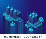 data center or cryptocurrency... | Shutterstock .eps vector #1087126157