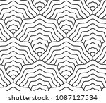linear scales seamless pattern  ... | Shutterstock . vector #1087127534