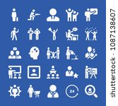 people related set of 25 icons... | Shutterstock .eps vector #1087138607