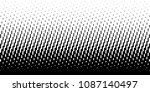 halftone rounded lines oblique... | Shutterstock . vector #1087140497