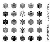 design elements set. cubic...   Shutterstock .eps vector #1087144499