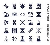 set of 25 science filled icons... | Shutterstock .eps vector #1087149221