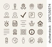 set of 25 signs outline icons... | Shutterstock .eps vector #1087150574