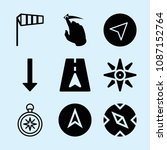 filled set of 9 direction icons ... | Shutterstock .eps vector #1087152764