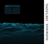 wireframe landscape wire.... | Shutterstock .eps vector #1087152941